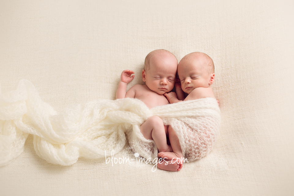 Newborn Twins Photography by Bloom Images