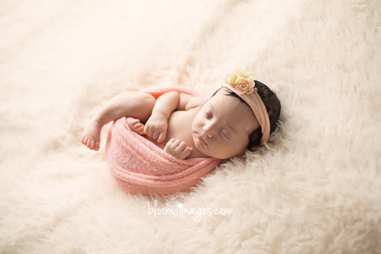 Newborn baby photography in Northern VA wrapped up