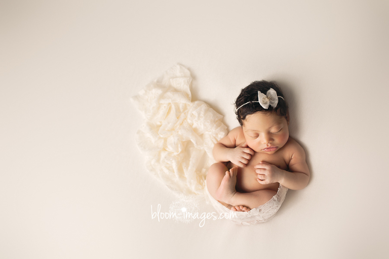 Newborn Photography Northern VA Infant wrapped in white