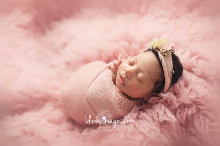 Newborn Photography Northern VA Infant girl in Pink