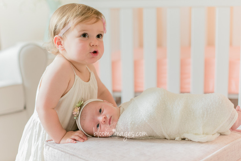 Baby sisters, at home newborn session in Northern VA