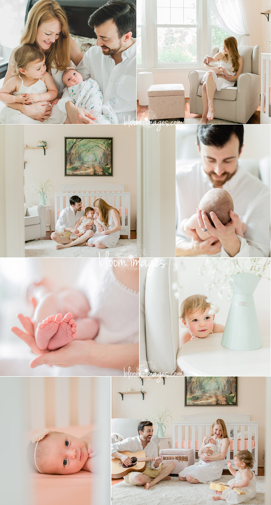 Lifestyle newborn photography in Northern VA